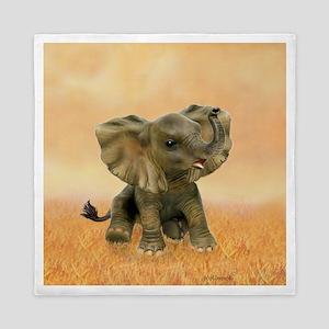 Beautiful African Baby Elephant Queen Duvet