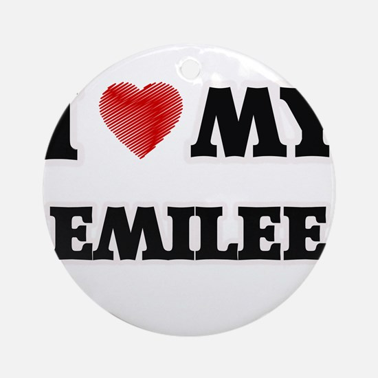 I love my Emilee Round Ornament