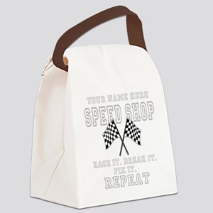 Racing Speed Shop Canvas Lunch Bag