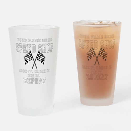 Racing Speed Shop Drinking Glass