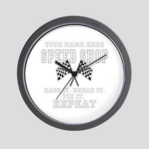 Racing Speed Shop Wall Clock