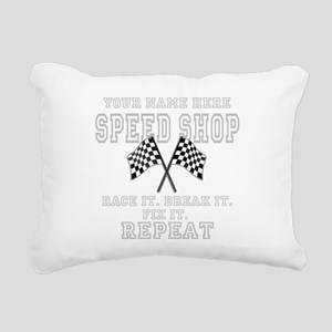 Racing Speed Shop Rectangular Canvas Pillow