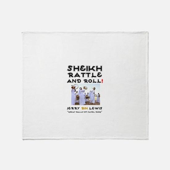 SHEIKH RATTLE & ROLL - SAUDI ARABIA' Throw Blanket