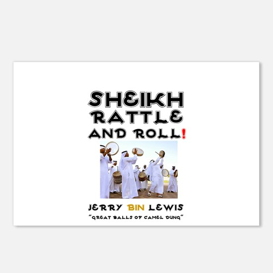 SHEIKH RATTLE & ROLL - SA Postcards (Package of 8)