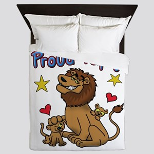 proud Papa For Father's Day! Queen Duvet