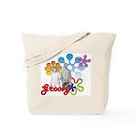 """Groovy"" Retro Graphic Tote Bag"