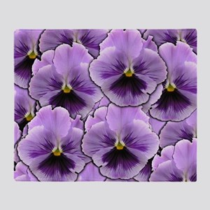 Pansy Patch Throw Blanket