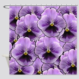 Pansy Patch Shower Curtain