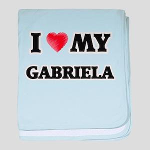 I love my Gabriela baby blanket