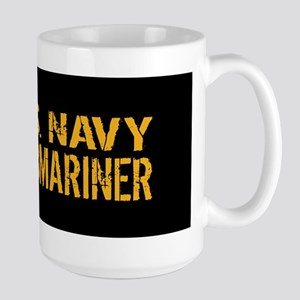 U.S. Navy: Submariner (Black) Large Mug