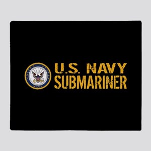 U.S. Navy: Submariner (Black) Throw Blanket