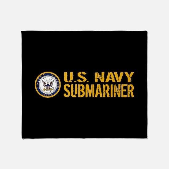 U.S. Navy: Submariner (Black) Throw Blanket