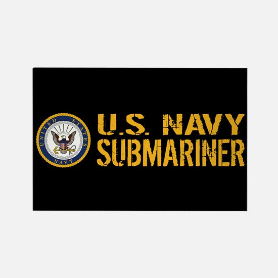 U.S. Navy: Submariner (Black) Rectangle Magnet