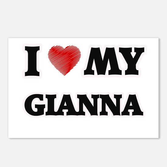 I love my Gianna Postcards (Package of 8)