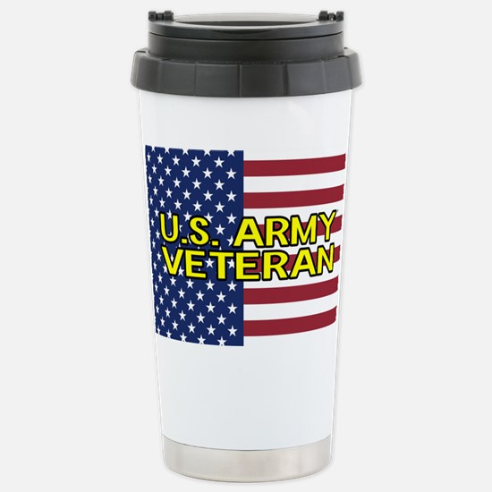 U.S. Army: Veteran (Ame Stainless Steel Travel Mug