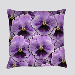 Pansy Patch Everyday Pillow