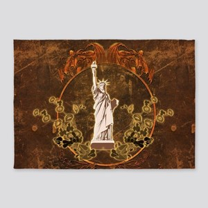 Statue of liberty 5'x7'Area Rug