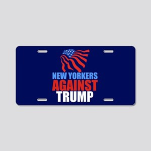 New Yorkers Against Trump Aluminum License Plate