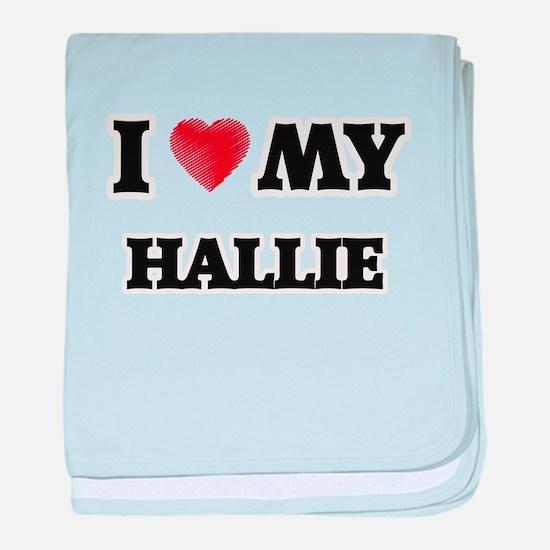 I love my Hallie baby blanket
