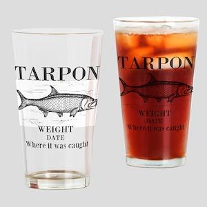 Tarpon fishing Drinking Glass