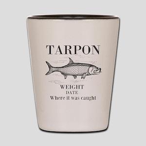 Tarpon fishing Shot Glass