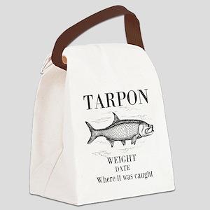 Tarpon fishing Canvas Lunch Bag