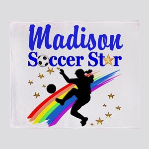 PERSONALIZE SOCCER Throw Blanket