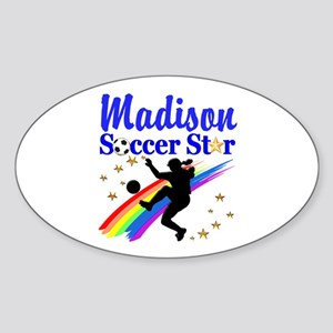 PERSONALIZE SOCCER Sticker (Oval)