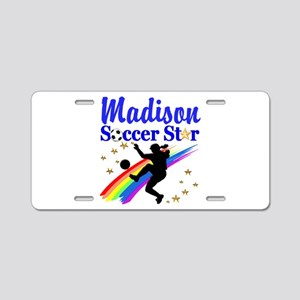PERSONALIZE SOCCER Aluminum License Plate