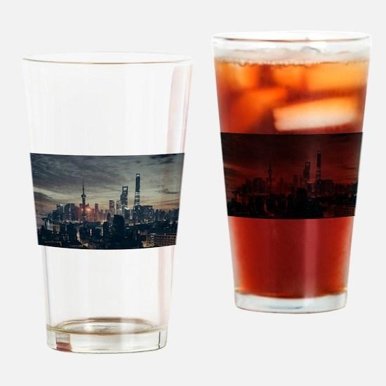 Shanghai by Night Drinking Glass