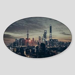Shanghai by Night Sticker