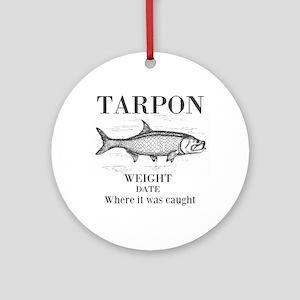 Tarpon fishing Round Ornament