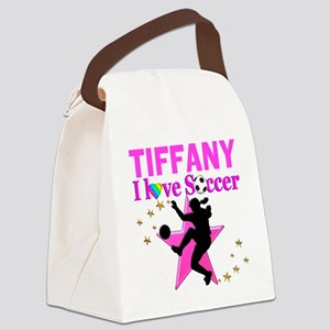 PERSONALIZE SOCCER Canvas Lunch Bag