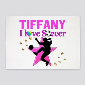 PERSONALIZE SOCCER 5'x7'Area Rug