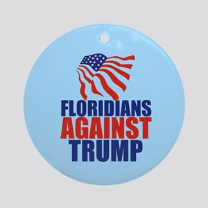 Florida Anti Trump Round Ornament