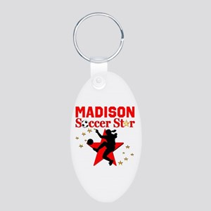 PERSONALIZE SOCCER Aluminum Oval Keychain