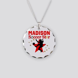 PERSONALIZE SOCCER Necklace Circle Charm
