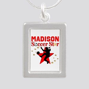 PERSONALIZE SOCCER Silver Portrait Necklace