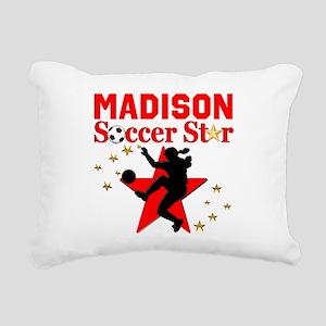 PERSONALIZE SOCCER Rectangular Canvas Pillow