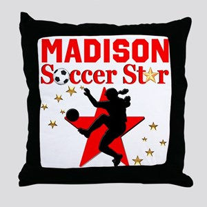 PERSONALIZE SOCCER Throw Pillow