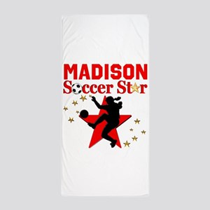 PERSONALIZE SOCCER Beach Towel