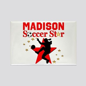 PERSONALIZE SOCCER Rectangle Magnet