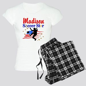 PERSONALIZE SOCCER Women's Light Pajamas