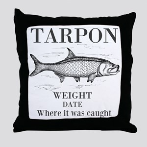 Tarpon fishing Throw Pillow