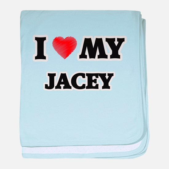 I love my Jacey baby blanket