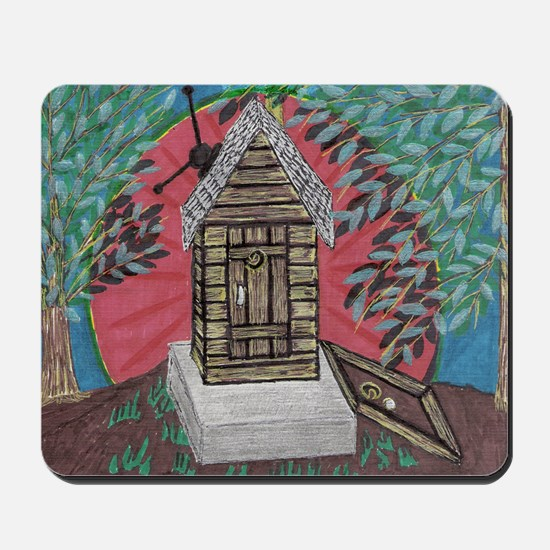 Outhouse/with full basement Mousepad