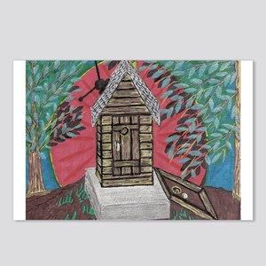 Outhouse/with full basement Postcards (Package of