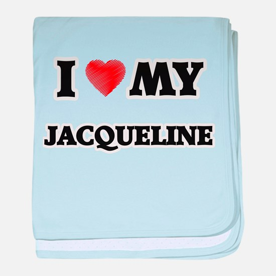 I love my Jacqueline baby blanket