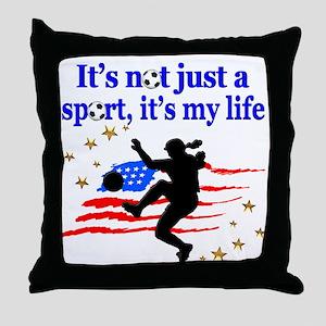 SOCCER PLAYER Throw Pillow