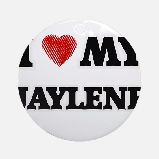 I love my Jaylene Round Ornament